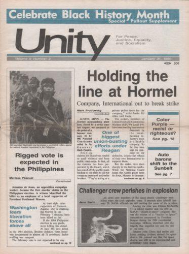 People Unity Newspaper Volume 9 Number 2 January 31